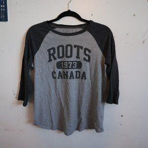 Roots Canada 3/4 Sleeve Baseball Tshirt